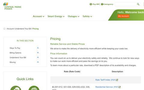 Screenshot of Pricing Page cmpco.com - Pricing - captured Dec. 14, 2018