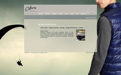 Screenshot of Services Page colorebg.co.uk - Colore Bulgaria - services quality - captured Oct. 8, 2014