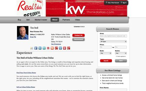 Screenshot of About Page thinkdallas.com - About Urban Dallas Homes For Sale and Real Estate - captured Oct. 6, 2014