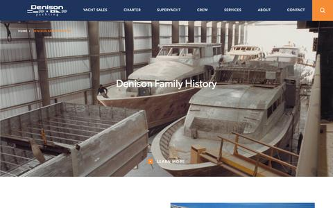 Screenshot of About Page denisonyachtsales.com - Yachting Family History Broward Marine | Denison Yachting - captured May 16, 2019