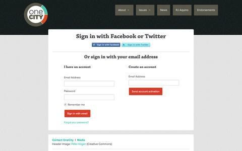 Screenshot of Login Page nationbuilder.com - Sign in - captured May 4, 2016