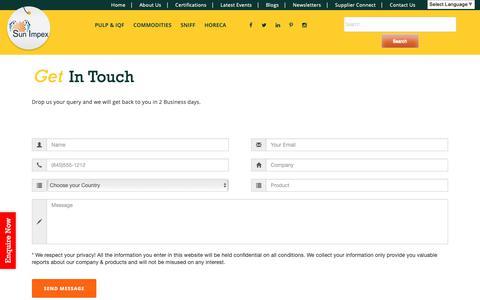 Screenshot of Contact Page sunimpex.biz - Contact Us - captured Nov. 7, 2018
