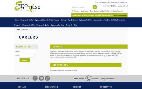 Screenshot of Jobs Page ergoprise.com - Careers at Ergoprise | Ergoprise.com - captured Sept. 19, 2014