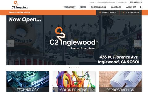 Screenshot of Home Page c2-imaging.com - C2 Imaging | Printing and Reprographic Solutions - captured Oct. 10, 2016