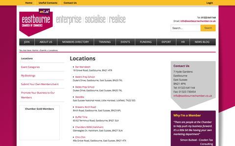 Screenshot of Locations Page eastbourneunltd.co.uk - Locations | unLtd - captured Jan. 25, 2016
