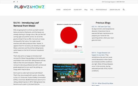 Screenshot of Blog plowzandmowz.com - Plowz & Mowz Lawn Care Blog - captured Sept. 19, 2014