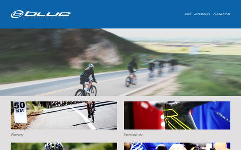 Screenshot of Support Page rideblue.com - Blue Competition Cycles-SUPPORT - captured July 31, 2017