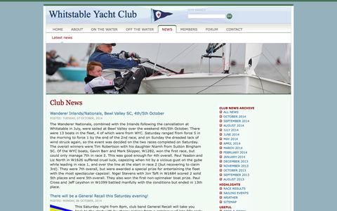 Screenshot of Press Page wyc.org.uk - Whitstable Yacht Club - News - captured Oct. 7, 2014