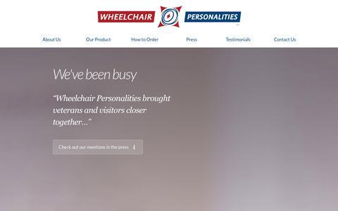 Screenshot of Press Page wheelchairpersonalities.com - Press · Wheelchair Personalities - captured Oct. 26, 2014