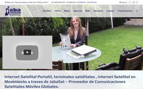 Screenshot of Home Page internet-portatil.com - [ JabaSat ] Internet Satelital Portatil Movil - captured Sept. 7, 2015