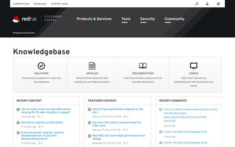 Screenshot of FAQ Page Site Map Page redhat.com - Knowledgebase - Red Hat Customer Portal - captured Jan. 4, 2017