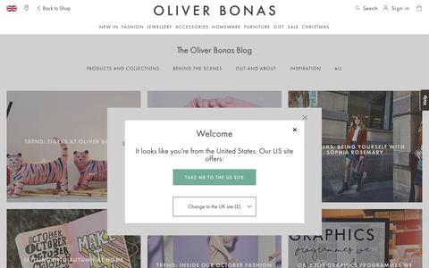 Screenshot of Blog oliverbonas.com - Blog Home page   Oliver Bonas - captured Oct. 19, 2018