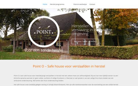 Screenshot of Home Page point-o.nl - Point O, voor een solide herstel na een klinische 12 stappen opname. - captured July 20, 2018