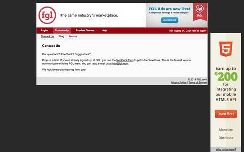 Screenshot of Contact Page fgl.com - Contact Us - FGL - captured Sept. 18, 2014