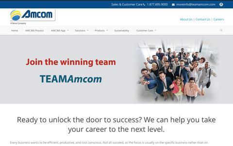 Screenshot of Jobs Page teamamcom.com - Amcom  Careers - Amcom - captured Nov. 20, 2016