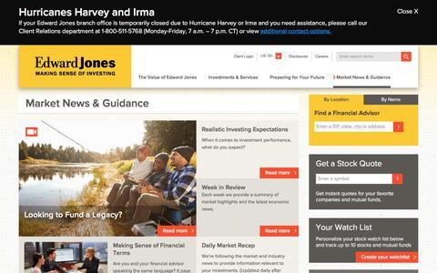 Market News & Guidance   Edward Jones