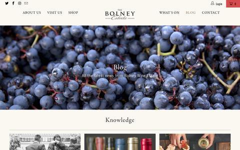 Screenshot of Blog bolneywineestate.com - Blog - Bolney Wine Estate Limited - captured Aug. 3, 2018