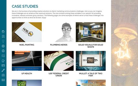 Screenshot of Case Studies Page pearlbrands.com - Case Studies - pearl brands - captured Sept. 30, 2018