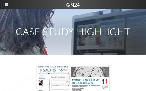 Screenshot of Case Studies Page on24.com - Salans-France   ON24 - captured Oct. 12, 2017