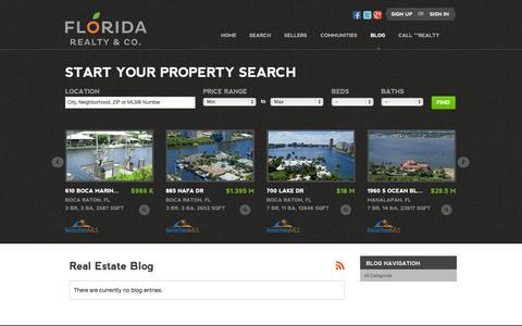 Screenshot of Blog floridarealty.net - Real Estate Blog - captured Oct. 6, 2014