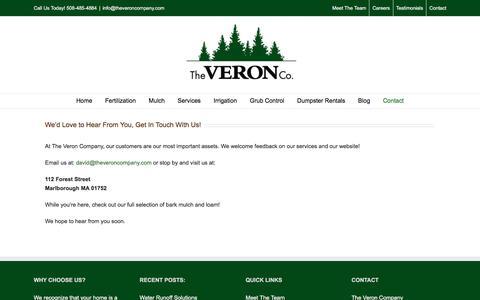 Screenshot of Contact Page theveroncompany.com - Contact | The Veron Company - captured Sept. 21, 2018