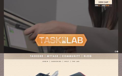 Screenshot of Home Page thetasklab.com - Tasklab   - captured Feb. 17, 2016