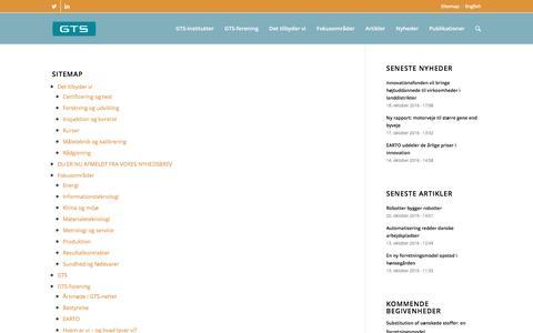Screenshot of Site Map Page gts-net.dk - Sitemap - gts-net.dk - captured Oct. 21, 2016