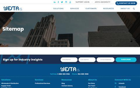 Screenshot of Site Map Page jestais.com - Sitemap - Enterprise software, business management software - captured Nov. 3, 2018