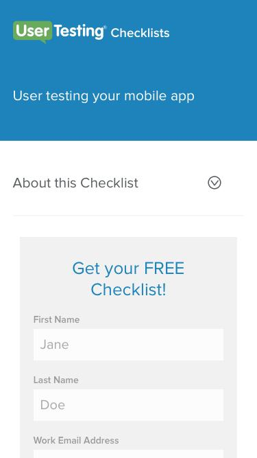 User testing your mobile app | UserTesting