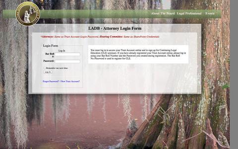 Screenshot of Login Page ladb.org - LADB.ORG :: Welcome - captured Nov. 2, 2014