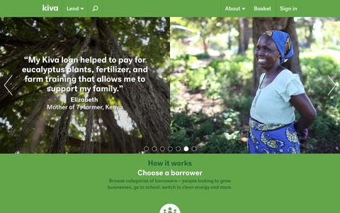Loans that change lives | Kiva