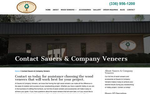 Screenshot of Contact Page sveneers.com - Contact Sauers & Company Veneers | Sauers & Company Veneers - captured Oct. 6, 2017
