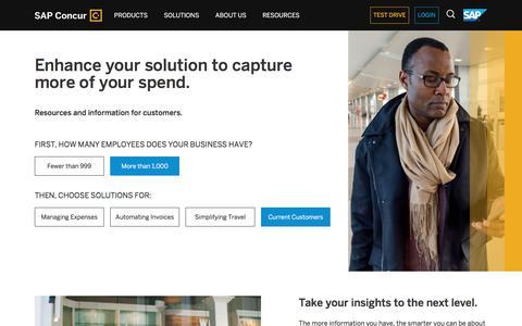 Enterprise Customer Solutions – Increase Visibility, Compliance, Productivity - SAP Concur