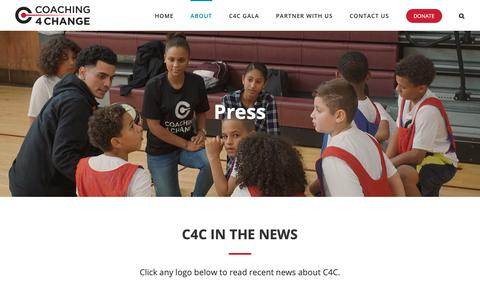 Screenshot of Press Page c4cinc.org - Press - Coaching 4 Change - captured Sept. 28, 2018