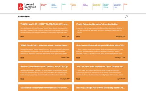 Screenshot of Blog leonardbernstein.com - Blog   News   Leonard Bernstein - captured July 5, 2017