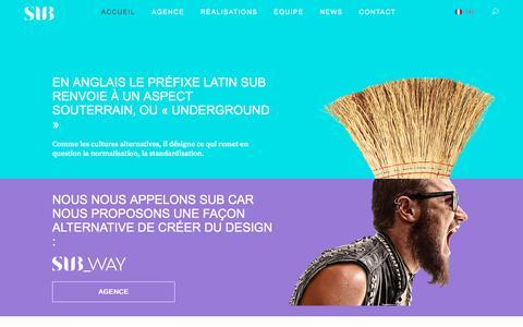 Screenshot of Home Page subdesign.fr - SUBDESIGN   Agence de Design - captured July 26, 2018
