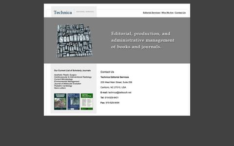 Screenshot of Contact Page technicaeditorial.com - Technica - Editorial Services - captured Oct. 7, 2014