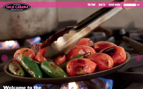 Screenshot of Home Page tacocabana.com - Taco Cabana | Mexican Restaurant, Tacos, Burritos, Bowls, Mexican Rice - captured Sept. 19, 2014