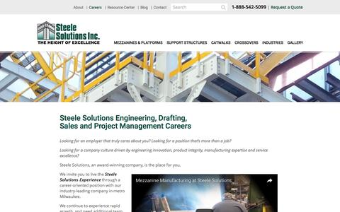 Jobs, Careers at Steele Solutions, Mezzanine Designer and Fabricator