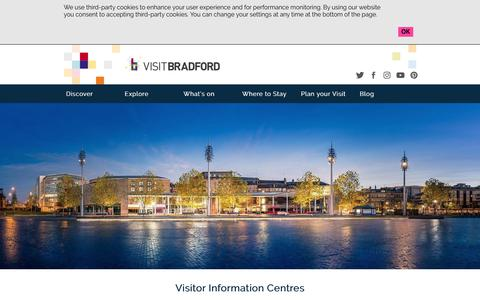 Screenshot of Contact Page visitbradford.com - Visitor Information Centres - captured Oct. 22, 2018