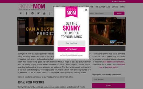 Screenshot of Jobs Page skinnymom.com - Careers   Skinny Mom   Where Moms Get the Skinny on Healthy Living - captured Nov. 3, 2015