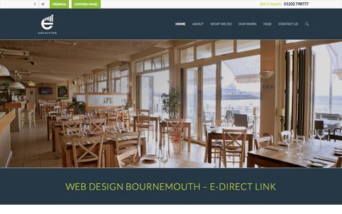 Screenshot of Home Page edirectlink.net - Bournemouth Web Design   SEO Bournemouth   E Direct Link - captured July 17, 2015