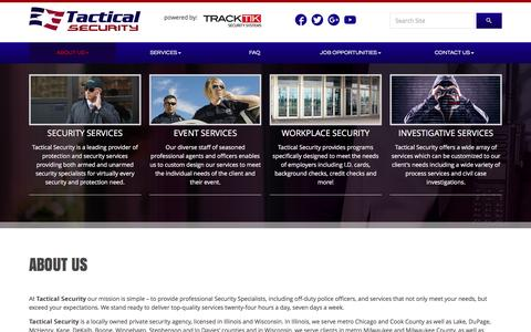 Screenshot of About Page tacticalsecure.com - About Us | Tactical Security LLC - captured Nov. 28, 2016