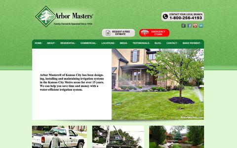 Screenshot of Home Page arbormasters.com - Arbor Masters - Lawn and Landscape CompanyArbor Masters - captured Sept. 19, 2014