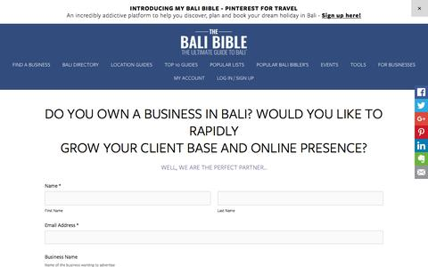 ADVERTISING - SOCIAL MEDIA - The Bali Bible