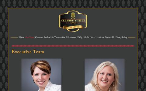 Screenshot of Team Page celebritytitle.com - Executive Team — Celebrity Title - captured May 15, 2017