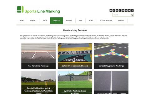 Screenshot of Services Page linemarking.ie - Line Marking Services - Linemarking.ie - captured Oct. 27, 2017