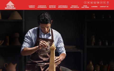 Screenshot of semenindonesia.com - Semen Indonesia | (Indonesia) Homepage - captured July 10, 2017