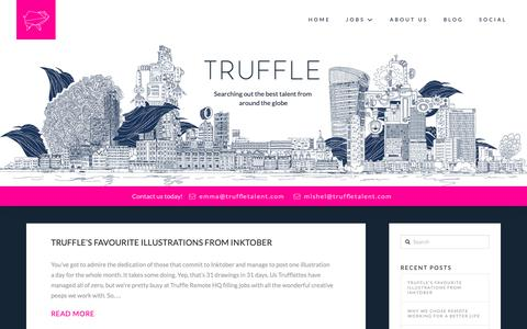Screenshot of Blog truffletalent.com - Read the Latest News from the Truffle Recruitment Agency Blog - captured Oct. 20, 2018