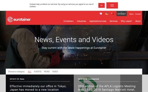 Screenshot of Press Page eurotainer.com - News - Eurotainer - captured Sept. 29, 2018